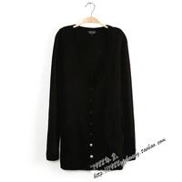 Export the new Women's medium-long sweater slim v-neck short sleeve loose sweater Women T-shirt outerwear plus size