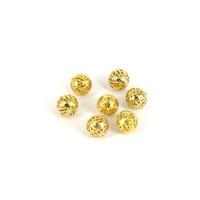 Beaded materials diy accessories diy handmade accessories metal beads hollow ball gold plated