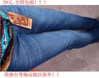 Export the new Pencil pants jeans mid waist skinny pants slim trousers women's
