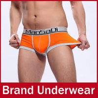 6 Pcs/lot Brand Fashion Mens Underwear, Reborn Cellulose Fiber U Shaped Pouch Cool Design Boxers Briefs Trunks For Men