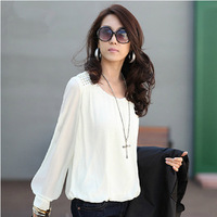 New 2014    Casual Loose Plus Size Chiffon Blouse Women Blouse t shirts Women t-shirt t shirt  XL SI035-1