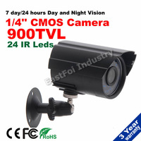 Free shipping! 900TVL 1/4CMOS 24IR Leds waterproof  Night Vision CCTV Surveillance  Indoor/Outdoor home security camera