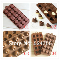 New 4pcs/Lot Silicone Chocolate Ice Making Mold  Cake Tools Cake Decorating Mould Free Shipping