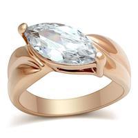 2014 Women Rose gold ring zircon austrian crystal fine jewelry vintage bijoux women engagement party