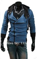 Korean Style Men's Hooddie Splicing Zipperfly Men Hoodies Sport Active Boy Coat M L XL XXL