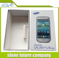 For Samsung galaxy S3 mini box new box package Paper Packed Packing box free shipping