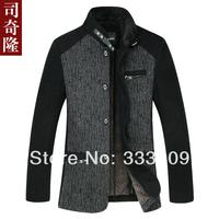 2013 New Fashion mens jacket Splice Wool Jacket Brand men's Jacket designer outerwear mens coat Winter Jackets for men coats