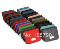 New 2014 Fashion Solid Color Women Genuine Leather Wallets Zippers Card holders Brand Designer Purses Multicolors Ladies