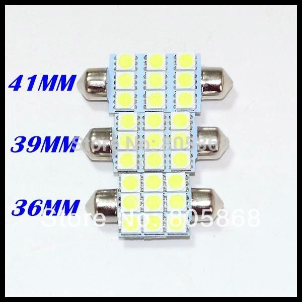 2014 10x 36mm 39mm 41mm C5w Car Led Festoon Light 5050smd 9 Smd 9smd Auto Lamp Bulbs Free Shipping(China (Mainland))