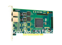 Free shipping Asterisk 2 E1/T1/J1 card, dual port,PCI 5V and 3.3 V Interface Digium TE420, TE412P compatible E1 Card-