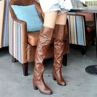 2014 new arrive fashion women boots  lacing boots knee-length boots  professional customize Promotional Price