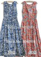Pregnant Women Dress Summer Cotton Dress Maternity  Floral Long Dress
