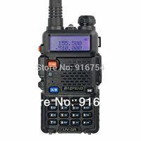 BaoFeng UV-5R Two-Way Radio (Black), Dual Band UHF/VHF Ham 136-174/400-480MHz, Earphone included.