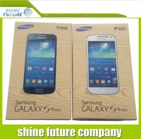 For Samsung galaxy S4 mini box new box package Paper Packed Packing box -- black or white free shipping