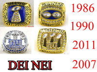 NFL 1986  1990 2007 2011  New York Giants Super Bowl replic championship rings US Size 11 on sale