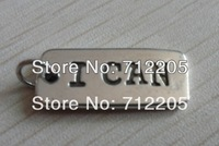 Free Shipping fashion 20pcs a lot antique silver plated I CAN charms(R107)