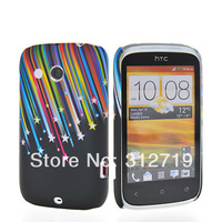 100pcs DHL free shipping  Amazing Flower Hard Shell Glossy Plastic Phone Case Cover Fit For HTC Desire 700