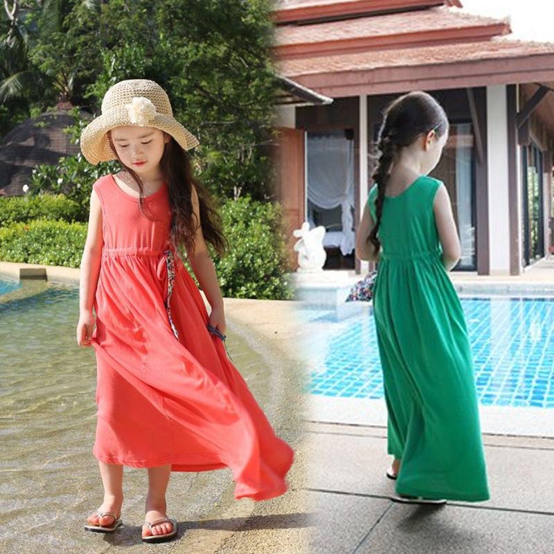 Summer 2014 new models vintage children's clothing children dress bohemian beach dress girls dress(China (Mainland))