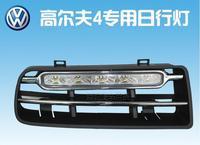HOT  !! 12V  modification volkswagen Golf 4  LED daytime running light(DRL) inatall in the original position of the fog light