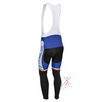 castelli blue ITALIA 2013 team cycle BIB pants trousers Winter Fleece Thermal Cycling bike Full Length stretch tight biking Wear