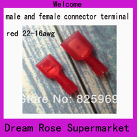 100%brass material body,nylon insulated,(red,yellow,blue color)male and female full- insulated wiring connectors terminals