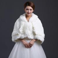 Rich quality fur wedding wrap shawl autumn and winter thermal cape bridal fur shawl