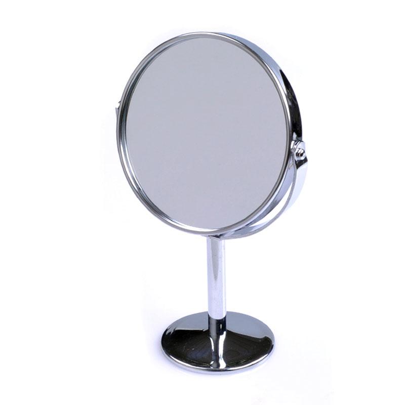 1: 3 magnifying Accessories desktop full metal mirror mini portable vanity mirror double faced desktop makeup mirror(China (Mainland))