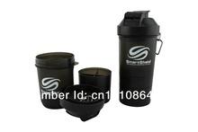 3 em 1 Novo portátil inteligente Shaker Cup Blender Protein Garrafa 500ML transporte livre(China (Mainland))