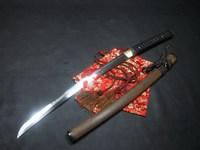 Battle ready clay tempered sanmai blade plum blossom wakizashi katana sharpened sword