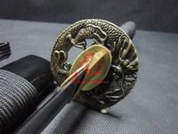 handforged japanese wakizashi sword dragon tsuba very sharp