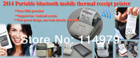 free HongKong air post shipping Portable 58mm Bluetooth Thermal POS  Printer support Androd + IOS