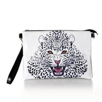 2014 leopard head pattern print one shoulder handbag women's handbag cross-body bag