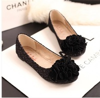 2014 spring and autumn new female fashion sweet flowers four seasons Lace Princess Shoe flat shoes
