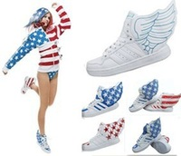 With wings shoes wings shoes high-top shoes women's shoes skateboarding shoes lovers design duck shoes dance shoes