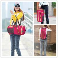Large capacity bucket sports handbag women and men travel luggage bag female portable duffle gym bags backpack