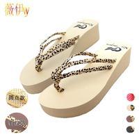 2014 new fashion Leopard print summer slippers platform women slippers flip dot ladies flip flops shoes women