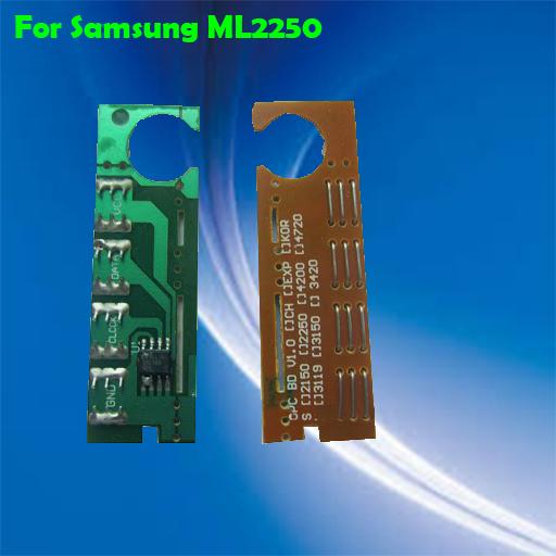 Livraison gratuite compatible samsung ml 2250 puce réinitialiser toner pour samsung ml-2250/2251/2252/2255 puce de la cartouche