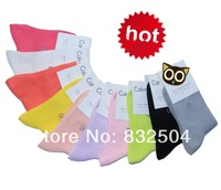 Free Shipping 9 Color 5 Pairs/lot Women brand pure Cotton Candy Color Socks Fashion Short sock cartoon socks promotion WXC