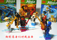 6 pcs/lot DECOOL Ninjago Blocks Toys Sensei Wu/COLE/JAY/KAI/ZANE/Samurai Nya PVC Mini Figure Block Toy For Children New In Box