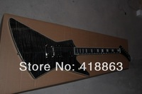Genuine fire hawk firehawk1958 Korina Explorer electric guitar shaped black color