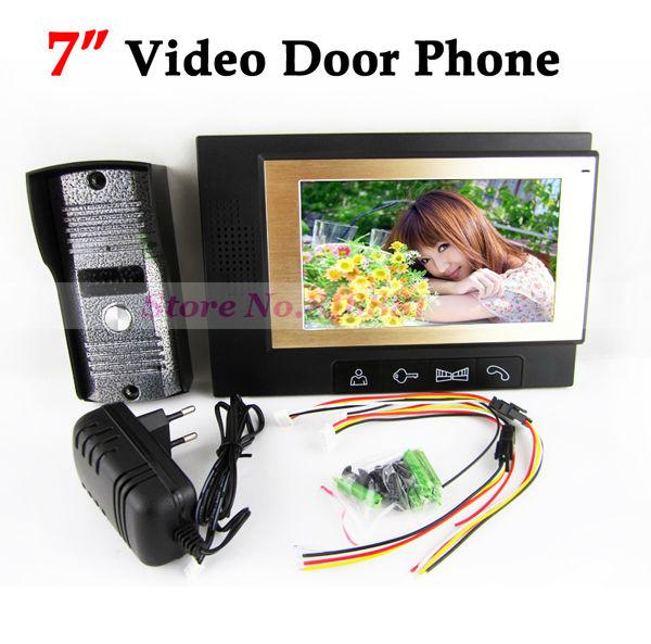 NEW 7 inch TFT Color Video Door phone doorbell Intercom System IR Camera Home Security(China (Mainland))