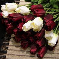 20pcs/lot 12 colors silk tulip wedding bouquet artificial flowers
