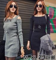 Spring 2014 new free shipping  women's fashion elegant sexy slim hip plus size basic autumn and winter one-piece dress