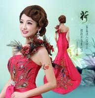 New 2014 Sexy Party Dresses Mermaid long One-piece Spring/Summer/Winter/Autumn Dress Evening Club Dress Women Dress