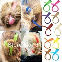 Free shipping -5pcs/lot fashion colorful one clip-in hair extension straight clips hair