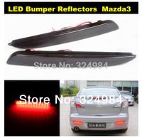High Power 2nd Gen Mazda3 Black Lens LED Rear Bumper Reflector Add On Tail Brake Lights