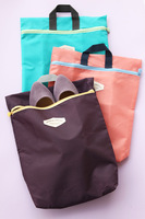 (Min order $10) Diams . green zakka diams . travel storage bag color block zipper compartment clothing storage bag