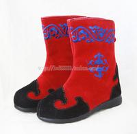 Child boots red dance shoes unique costumes boots shoes