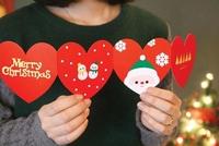 Christmas accordion type folding christmas greeting card envelope gift set 2