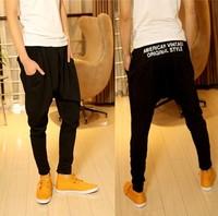 Hot ! 2014 spring new men's casual trousers fashion narrow feet print alphabet pants mens hip hop harem sweatpants free shipping